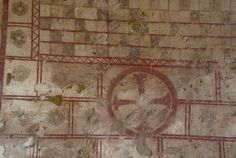 Photo of Medieval wall painting, Michaelchurch, Michaelchurch, Herefordshire. Part of the Herefordshire Travel Guide on Britain Express Interior Paint, Interior Decorating, Interior Design, Ceiling Painting, Renaissance Era, Castle Wall, Painted Walls, Wall Paintings, Herefordshire