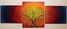 Tableau contemporain : Silhouettes de branchages 2. Triptyque réalisé à la peinture acrylique (Pébéo, Studio) et au Posca (Uni / style de peinture acrylique) sur châssis en bois entoilé en lin blanchi. Format (général) : 56 cm x 141 cm x 1,8 cm. Date de réalisation : 07 / 2016. #triptyque #silhouettes #branchages #peinture #contemporaine #art #arbre #œuvre #colorée #design Pour voir toutes les œuvres disponibles de l'artiste, rendez-vous sur : http://www.jonathan-pradillon.com