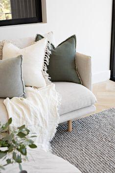 Cream Living Rooms, Living Tv, Living Room Green, Living Room Interior, Living Room Bedroom, Home And Living, Living Room Decor, Living Spaces, Bedroom Furniture Design
