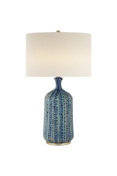 Culloden Table Lamp in Marbleized Sienna with Linen Shade Lamp Design, Lighting Design, Ceramic Art, Ceramic Lamps, Living Room Update, Home Decor Lights, Circa Lighting, Blue Lagoon, Light Table