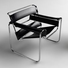 """Wassily Chair (1925) by Marcel Breuer: """"My most extreme work . . . the least artistic, the most logical, the least 'cozy' and the most mechanical."""""""