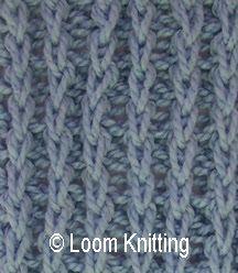 Loom Knitting: chunky braid purl stitch