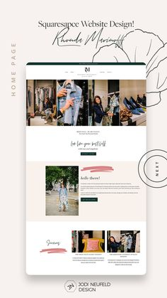 Home page | Squarespace template install and customization for a personal stylist | by Jodi Neufeld Design