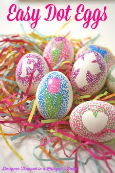 drop the dye! 7 easter egg DIYs you've gotta try: Easy-Dotted Easter Eggs via @melanieladue