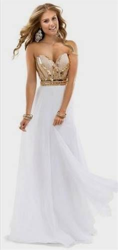 white and gold formal dresses 2016/17 » My Jewelry Shop