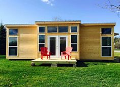 This is a 14 x 32 Lake House (not on wheels) with a downstairs bedroom that's for sale in Malone, New York. It was built by Tiny Houses, Miniature Mansions LLC and is listed for $26,000. This…
