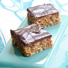 Is it dessert or is it breakfast? Peanut Butter Bars gone healthy.
