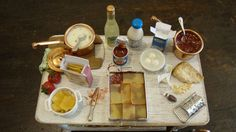 RESERVED FOR PAVONE Miniature table set by bagusitalyminiatures