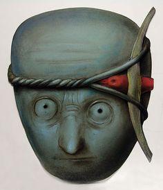 Leonardo, 58x48 cm, pastel, 1988, Stasys Eidrigevicius Polish Posters, Unusual Art, Typography Prints, Illustrations And Posters, Horror Art, Artist At Work, Caricature, Printmaking, Illustration Art