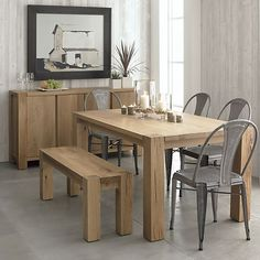 "Big Sur Natural 65"" Dining Table in Dining Tables 