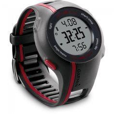 2bd4342437b Relógio Esportivo Garmin Forerunner 110 com GPS e Cinta Peitoral Soft -  Cinza e Vermelho