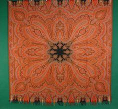 Wool Paisley Shawl, 19th C.<br /> Session 1 - Lot 295