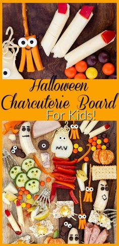 A curated gathering of adorable Halloween-themed food art! Make this Halloween Charcuterie board for your kid's playdate or school party, or pick a few individual items to make during the days leading up to Oct. 31st!