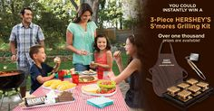 HERSHEY'S 2014 Summer S'mores Grilling Instant-Win Game. Enter and you could win a S'mores grilling kit. Over one thousand prizes available!