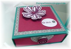 Stempeltissimo.blogspot.de Box mit Schubfach für Süßes Stampin Up, Decorative Boxes, Home Decor, Packaging, Projects, Decoration Home, Room Decor, Stamping Up, Home Interior Design