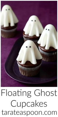Floating ghost cupcakes will make all the ghouls come out to the Halloween party. These are easy to make--the little witches and storm troopers can help.