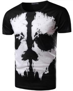 2f7dcfba9b873 3D skull t shirt black and white tee for men 3d T Shirts