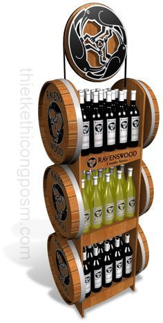 Creative Point of purchase displays and exhibition booths for trade-shows… Drink Display, Pos Display, Store Displays, Display Design, Store Design, Pos Design, Wine Design, Retail Design, Exhibition Booth Design