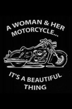 A woman & her motorcycle