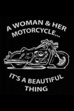 A woman & her motorcycle Shoreline Harley-Davidson www.shorelinehd.com