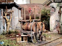 Scratchbuilt by Marcel Ackle, 1/22,5 scale - Dieseltankstelle