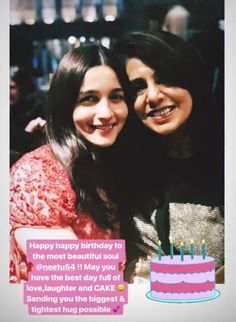 Alia Bhatt Wishes Ranbir Kapoor's Mother Neetu Singh On Her Birthday With The Most Adorable Message Friendship Birthday Wishes, Happy Birthday Best Friend Quotes, Birthday Wishes For Mother, Romantic Birthday Wishes, Birthday Wish For Husband, Birthday Wishes For Boyfriend, Sister Birthday Quotes, Bff Birthday, Birthday Post Instagram