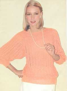 PDF 7903 Vintage 1970s Crochet Filet Top pattern