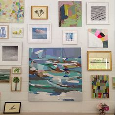 Wall of colour art - brightens my day looking at it.  (serenaandlily.com)