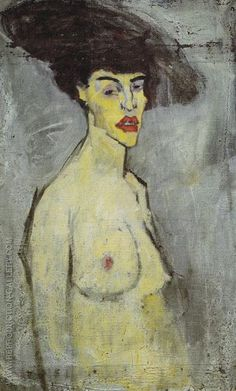 Amedeo Clemente Modigliani Born: 12 July Livorno, Italy Died: 24 January Paris, France Active Years: 1898 - 1920 Field: painting, sculpture Nationality: Italian Art Movement: Expressionism School or Group: École de Paris Genre: nude painting (nu) Amedeo Modigliani, Modigliani Paintings, Oil Paintings, Chaim Soutine, Art Ancien, Atelier D Art, Guache, Italian Painters, Oil Painting Reproductions