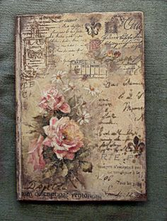 #notebook #vintage #letters #roses