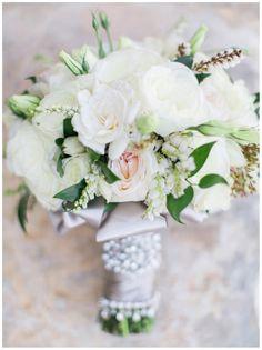 aboutdetailsdetails.com | Wedding Bouquet | Bridal Bouquet | Wedding Flowers | White Dress | White Roses | Rose Bouquet | Rose Bridal Bouquet | White and Blush Flowers |