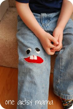 Little Monster Jeans Patch -- could do a girl version, too!
