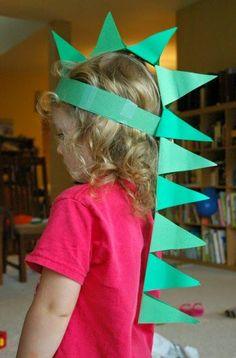 DIY Paper Dinosaur Hat Craft for Kids