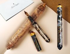 """ONE COPY - ONE OWNER This is a new fountain pen named """"Born Again"""" made by Marcu. - ONE COPY – ONE OWNER This is a new fountain pen named """"Born Again"""" made by Marcus Torpedo in one copy. A wooden capsule in the complect. Luxury Pens, Pen Name, Fountain Pen, Writers, Geek Stuff, Copper, Hand Painted, Calligraphy, Handmade"""