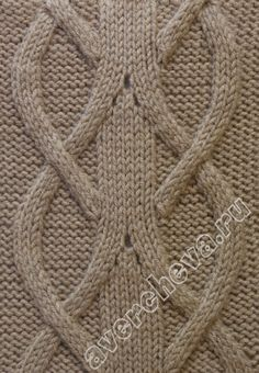 Lovely cable knitting pattern. Page is in Russian - Google translation looks…