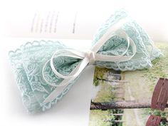 double lace bow clip