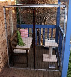 Cat Stuff Cat Enclosures ~ 'The Balcony' (H1.8 x W1.5 x L1.8) Let your feline friend enjoy the outdoors in safety. Accessories not included. - Cat Stuff Cat Enclosures, PetCare, Mckellar, ACT, 2617 - TrueLocal