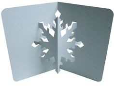 EZ3D Pop Ups: Christmas Place Cards And Free Snowflake Card Pattern Link!