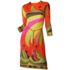 Emilio Pucci 1960s   From a collection of rare vintage day dresses at http://www.1stdibs.com/fashion/clothing/day-dresses/
