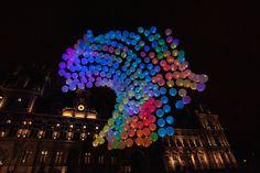 Interactive Burble installation in Paris