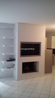 Τζάκι με εσοχή για τηλεόραση σε οικία στο Χαλάνδρι. Home Decor, Decoration Home, Room Decor, Home Interior Design, Home Decoration, Interior Design
