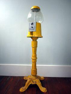 Vintage Gumball Machine on Stand | Gumball Machine, Gumball and ...