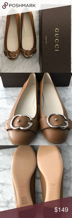 Gucci NEW IN BOX Sachalin Ballet Flats with Buckle Brand new in box Gucci ballet flats size 38.5 M ORIG. $575 Gucci Shoes Flats & Loafers