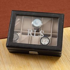 SALE Men's Personalized Watch Box Monogrammed by CustomSentiments