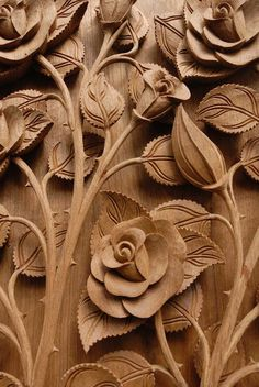 Rose Flower Thai style Teak wood carving Door in Chiangmai Thailand - stock photo Dremel Wood Carving, Wood Carving Art, Wood Carvings, Wood Carving Designs, Wood Carving Patterns, Chip Carving, Driftwood Sculpture, Art Carved, Wood Working For Beginners