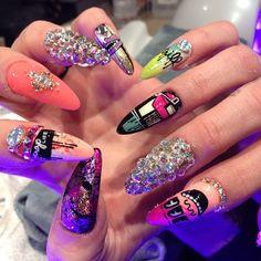 dope nailartist, nailz, stiletto nail, nailart gelnail, beauti