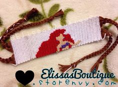 Ariel Disney friendship bracelet pattern number 11773 - For more patterns and tutorials visit our web or the app!