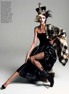 Anja Rubik for Vogue Paris by Inez & Vinoodh