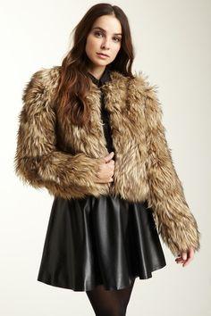 A.B.S Animal Print Faux Fur Coat grey gray white | Let it Snow ...