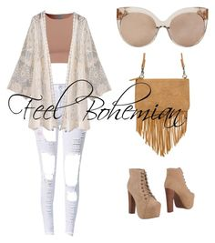 """Feel Bohemian"" by laureenmekuilm on Polyvore featuring Jeffrey Campbell and Linda Farrow"